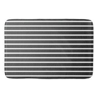 Black Stripes Bath Mat