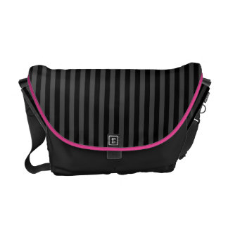 Black Stripes Messenger Bag