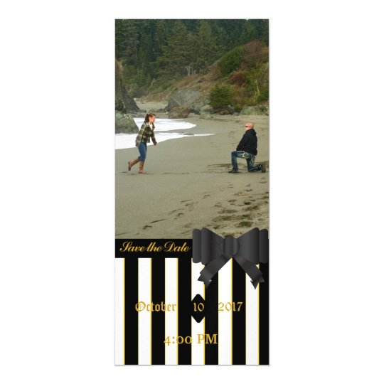 Black Stripes Picture Save the Date Magnet Magnetic Invitations