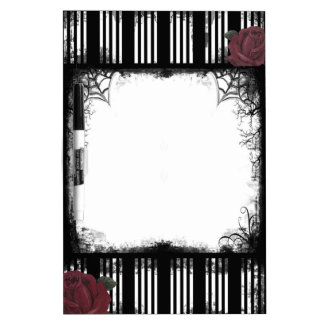 Black Stripes Roses Dry Erase Board
