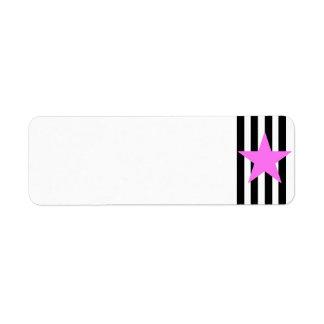 Black Strips Pink Star- Customizable Background