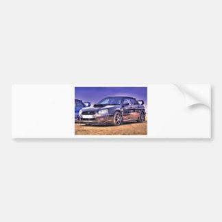 Black Subaru Impreza WRX STi Car Bumper Sticker