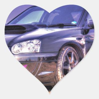 Black Subaru Impreza WRX STi Heart Sticker