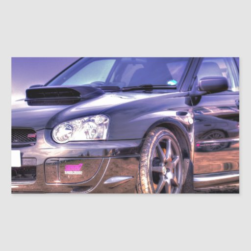 Black Subaru Impreza WRX STi Stickers