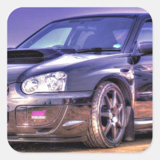 Black Subaru Impreza WRX STi Square Sticker