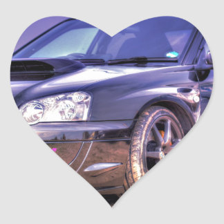 Black Subaru Impreza WRX STi Sticker