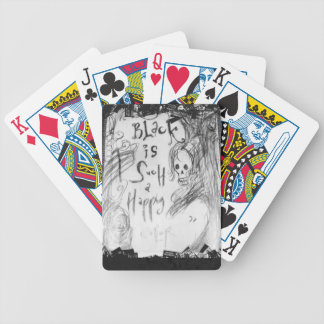 black such a happy color bicycle playing cards