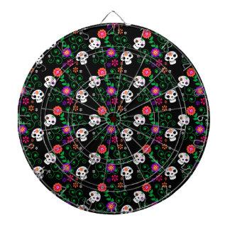 black sugar skull dartboard