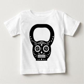 Black Sugar Skull Kettle Bell Baby T-Shirt