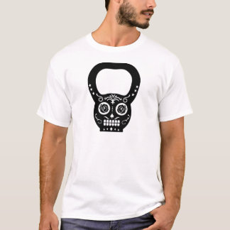 Black Sugar Skull Kettle Bell T-Shirt