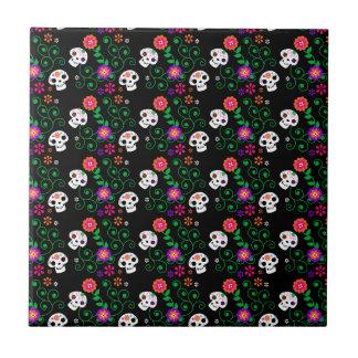 black sugar skull tile