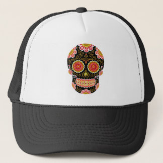 Black Sugar Skull Trucker Hat