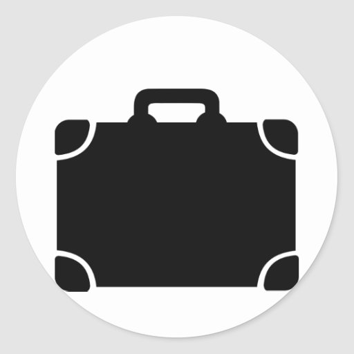 Black Suitcase icon Sticker