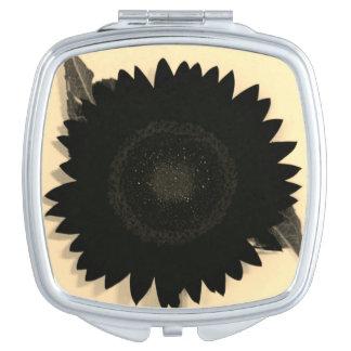 Black Sunflower Makeup Mirror