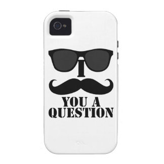 Black Sunglasses and I Mustache You a Question iPhone 4 Cover