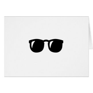 Black Sunglasses Greeting Cards