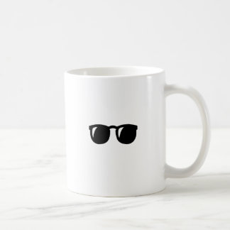 Black Sunglasses Classic White Coffee Mug