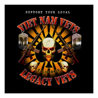 Black Support Viet Nam / Legacy Vets MC - Art Poster