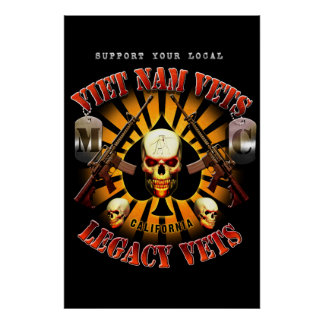 Black Support Viet Nam / Legacy Vets MC Art Poster