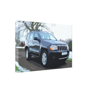 Black SUV car Canvas Print