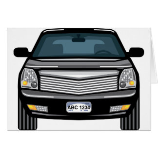 Black SUV front view Card