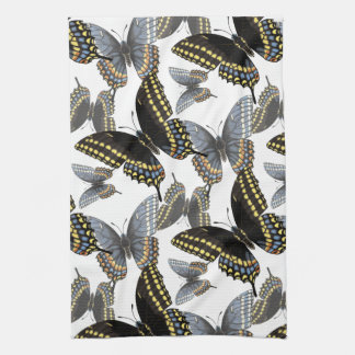 Black Swallowtail Butterfly Kitchen Towel