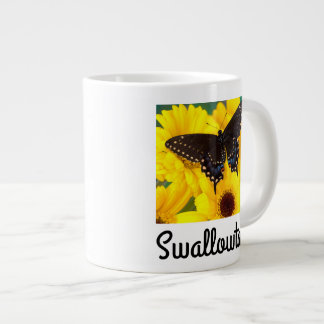 Black Swallowtail butterfly Large Coffee Mug