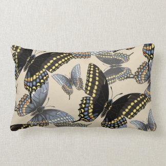 Black Swallowtail Butterfly Lumbar Pillow