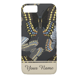 Black Swallowtail Butterfly Personalized iPhone 7 Case