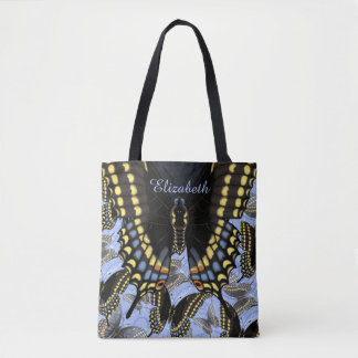 Black Swallowtail Butterfly Personalized Tote Bag