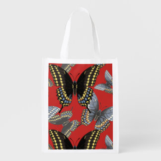 Black Swallowtail Butterfly Reusable Grocery Bag