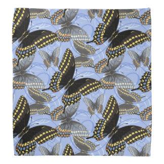 Black Swallowtail Butterfly Swirls Bandana