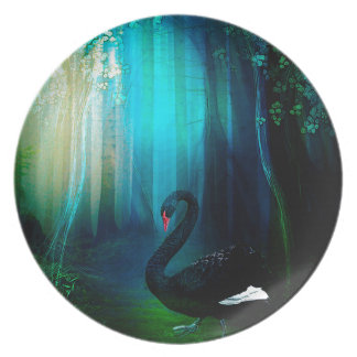 BLACK SWAN PLATE