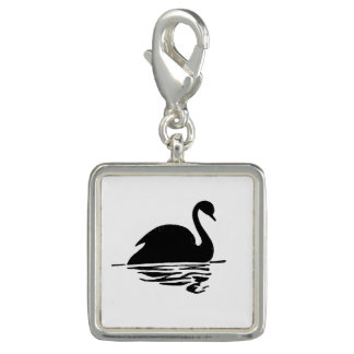 Black Swan Silhouette Charm