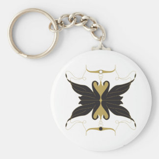 Black Swans and Doves Keychain