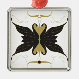 Black Swans and Doves Metal Ornament