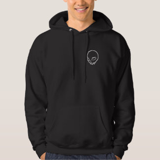 Black Sweat with hood with alien white clear gray Hoodie