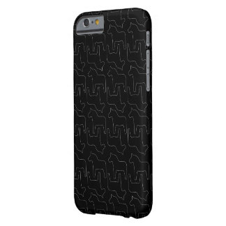 Black Swedish Dala Horse iPhone case