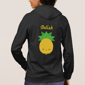 Black sweet pineapple zip hoodie
