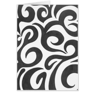 Black Swirls (1) Card