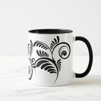 Black swirls mug