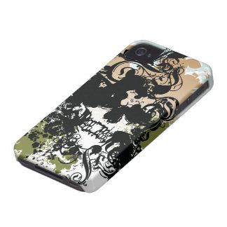 Black swirls skull awesome blackberry bold case