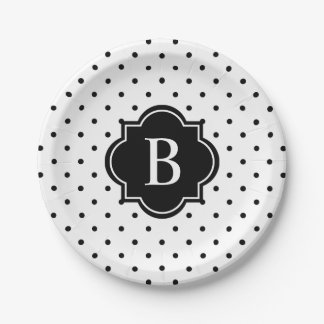 Black Swiss Dots | Paper Party Plates