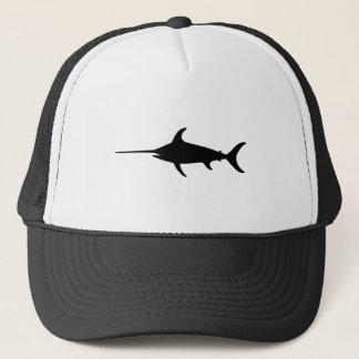 Black Swordfish Trucker Hat