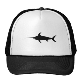 Black Swordfish Trucker Hat