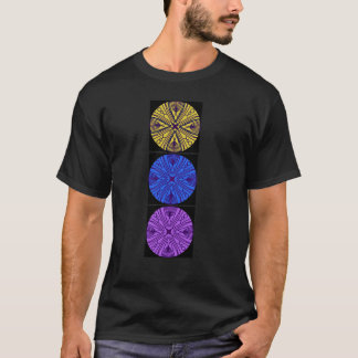 Black t-shirt. 3 matching mandalas T-Shirt