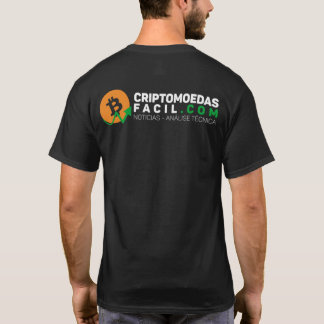 Black t-shirt Easy Criptomoedas