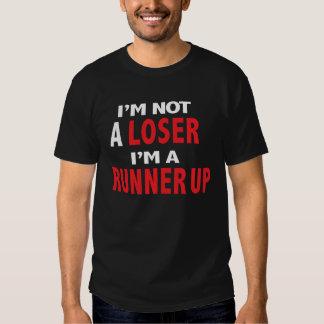 Black T Shirt I'm not a Loser but a Runner Up