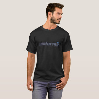 Black T-Shirt In Form