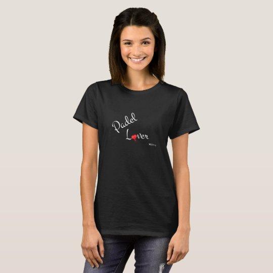 Black t-shirt PadelLover woman
